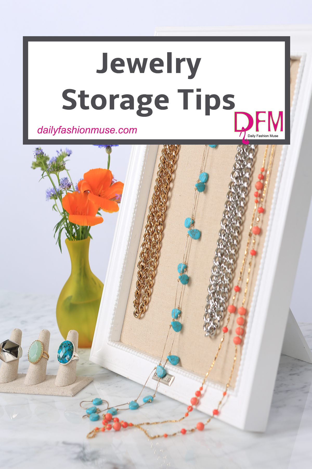 Jewelry storage is key to keeping your pieces in good condition. Click through for some unique and affordable ways to store your jewelry.