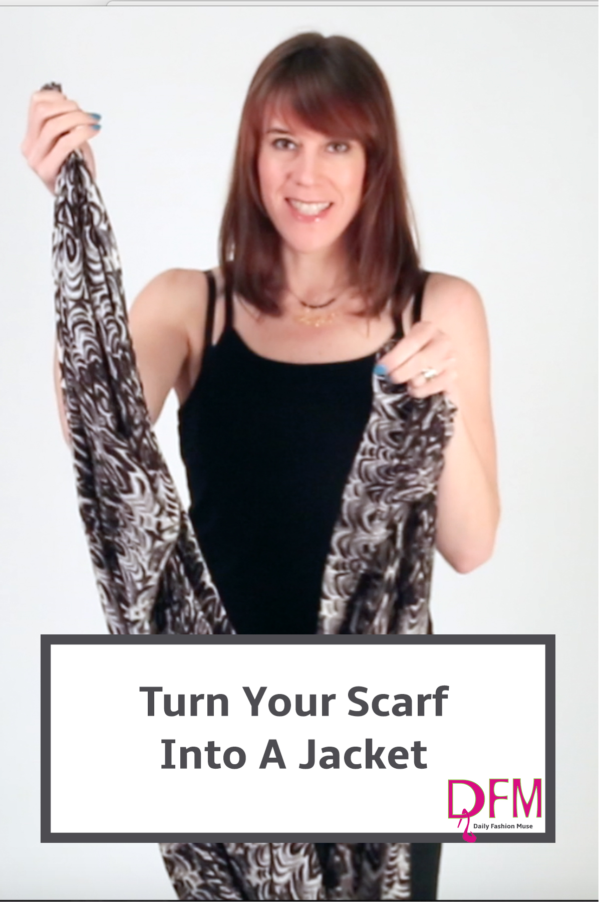 Super easy video tutorial on turning your oblong scarf into a jacket. Click through to watch the video.