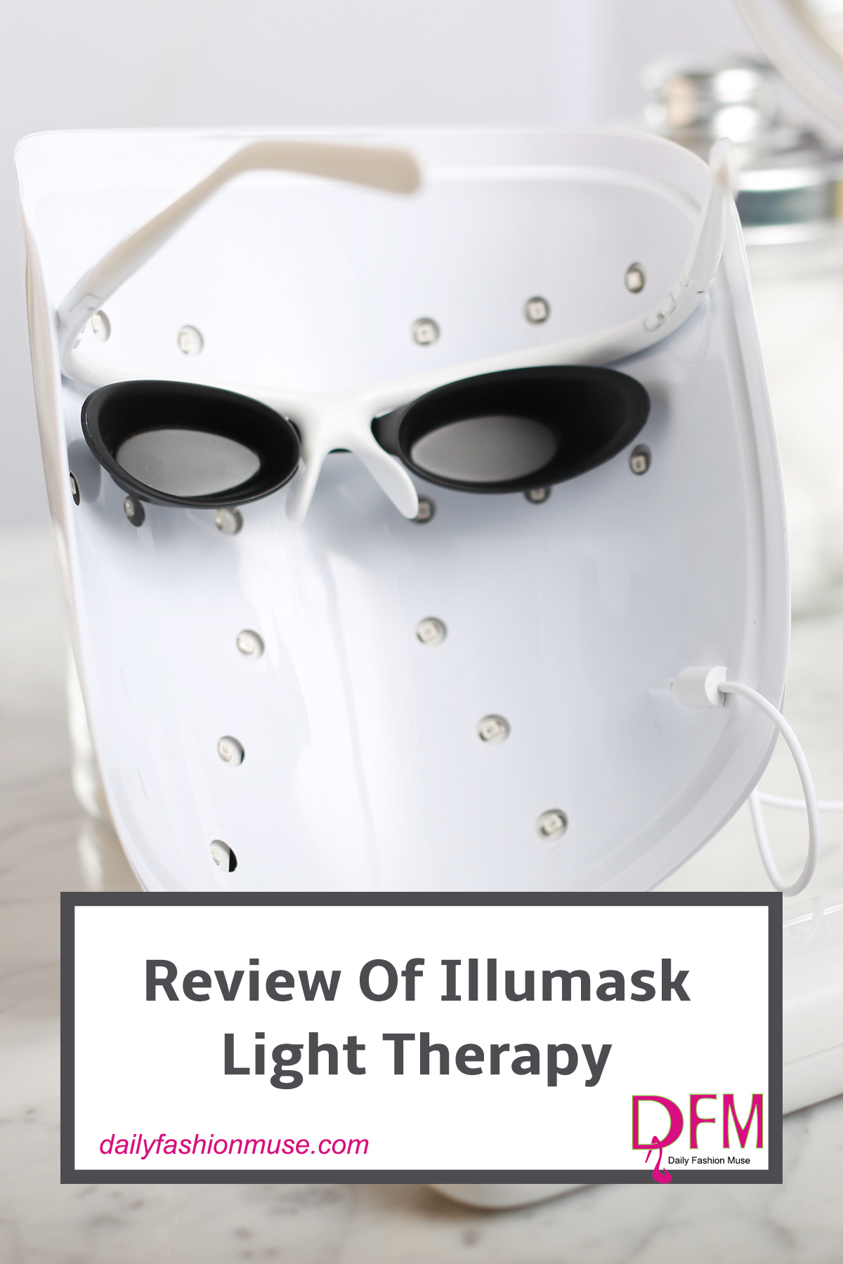 A surprising perk happens after using the Illumask Light Therapy. click through and read my review to find out what happens.