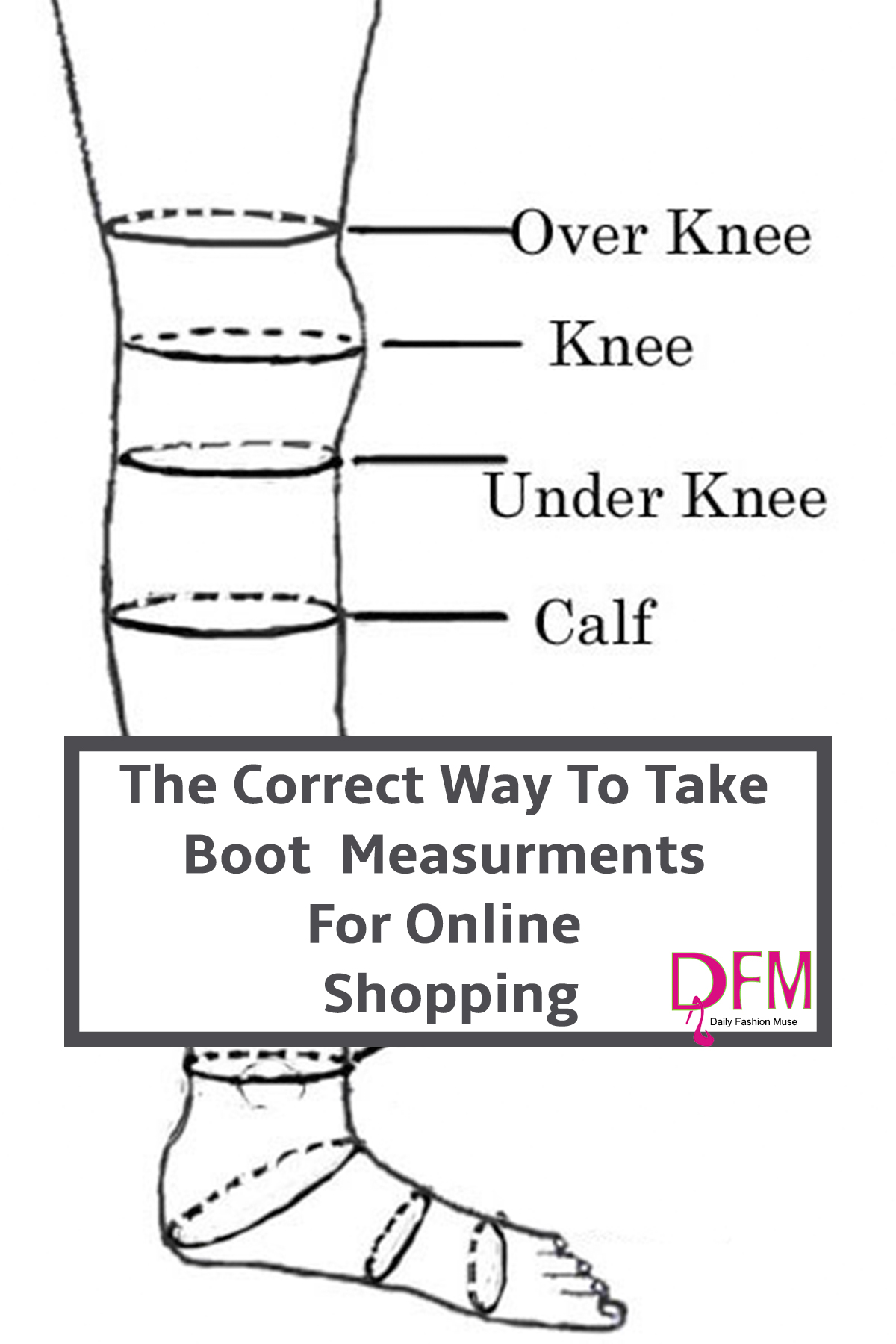 Here is how you can take the correct boot measurements when shopping online so you know what you are buying.