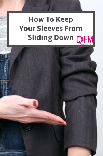 Do you struggle with trying to keep your sleeves pushed up. Try this style hack to keep those sleeves in place. Click through to see how.