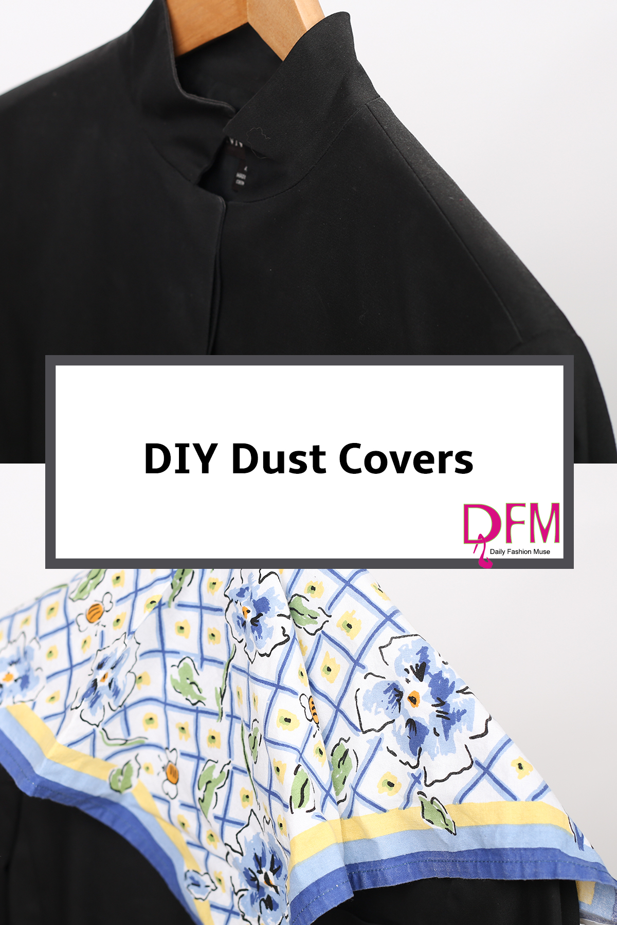 Here is a fashion hack to help you protect your clothes from dust. Click through to see how.