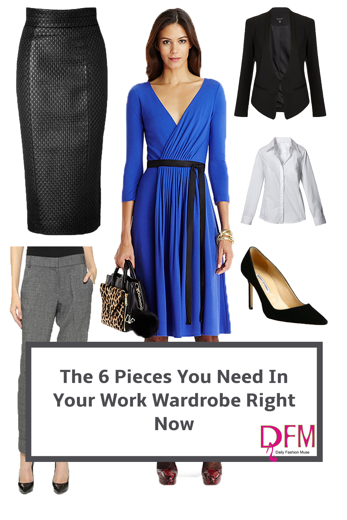 Build your work wardrobe with these 6 pieces. They work just as well for weekend wear. Click through to find out how.