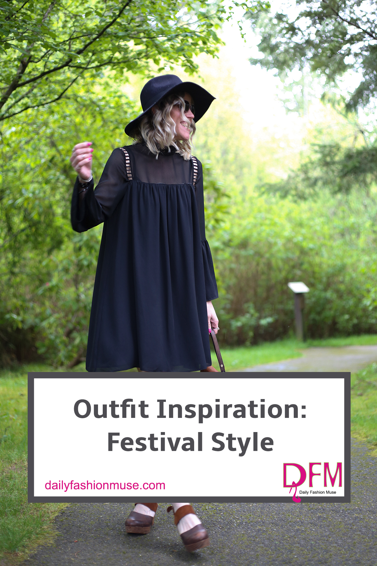 Catch the bohemian festival fashion vibe with a swing dress and clogs. Got to remember to top it all off with your floppy fedora to protect yourself from the sun.Click through to see more or repin for later inspiration.