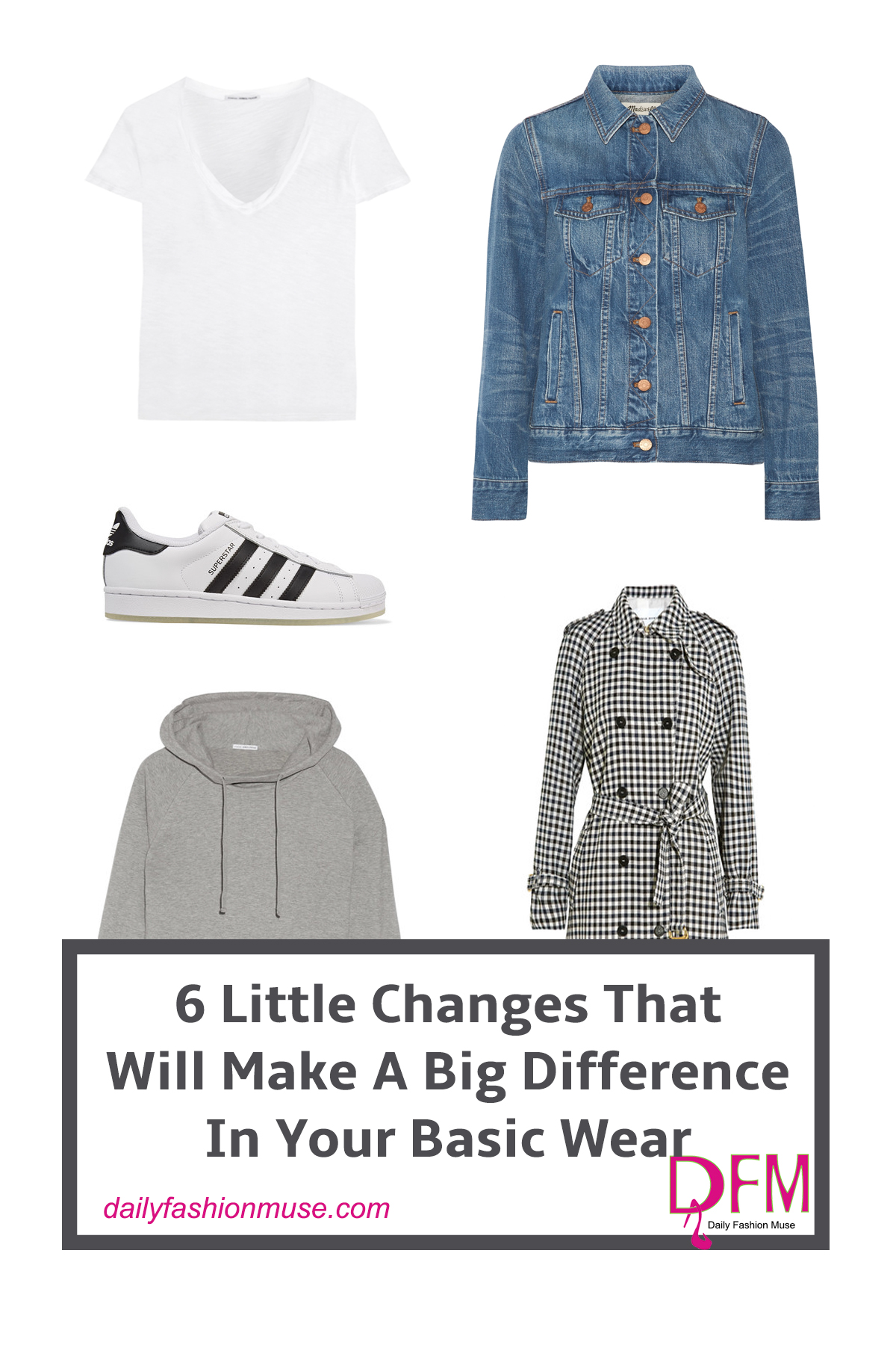 Unexpected styling will give your basic wear new life. Click to see how to restyle your basic wear that will have you looking like fashion expert.