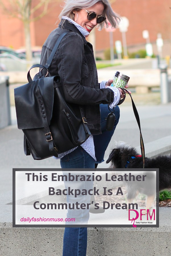 For commuters a functional bag is crucial. The Embrazio Leather Backpack meets that challenge. With its carefully thought out design, one can easily access their computer, phone, or subway pass quickly. See how my love affair with this bag has developed.
