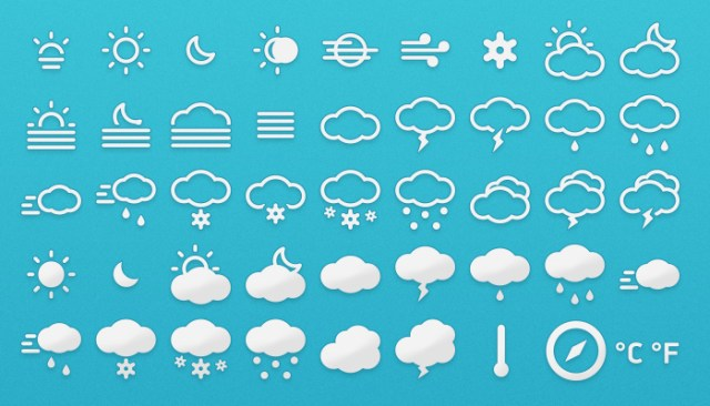 Classical weather icon set