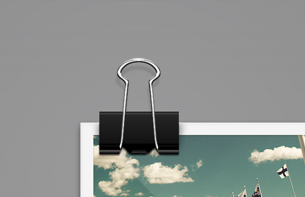 Paper clip layered psd