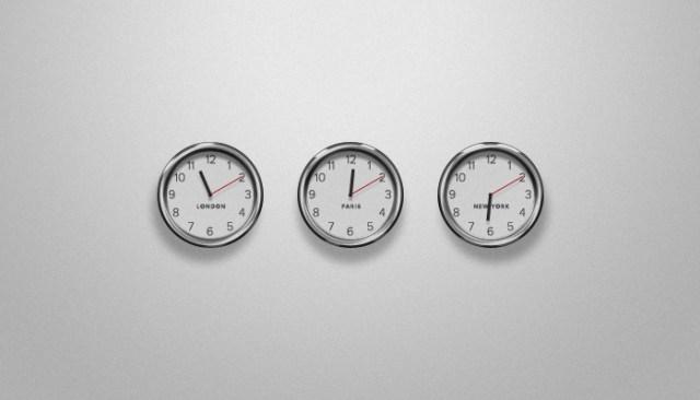 Plain and simple clock psd