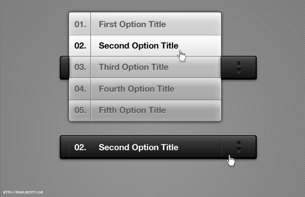 custom select menu elements