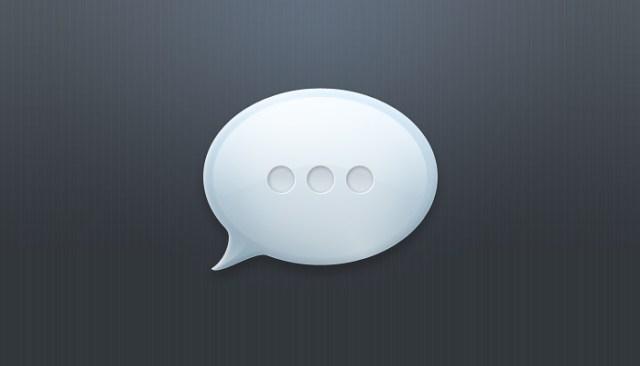 layered speech bubble web element  (psd)