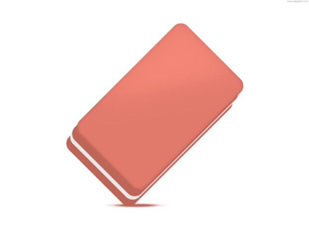 Exquisite pink eraser icon