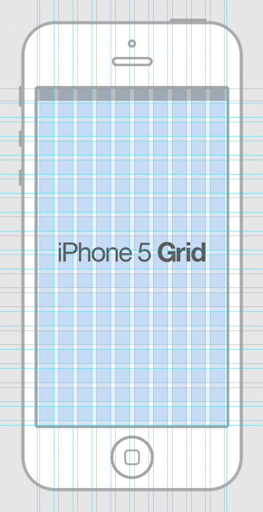Free iPhone 5 Grid PSD