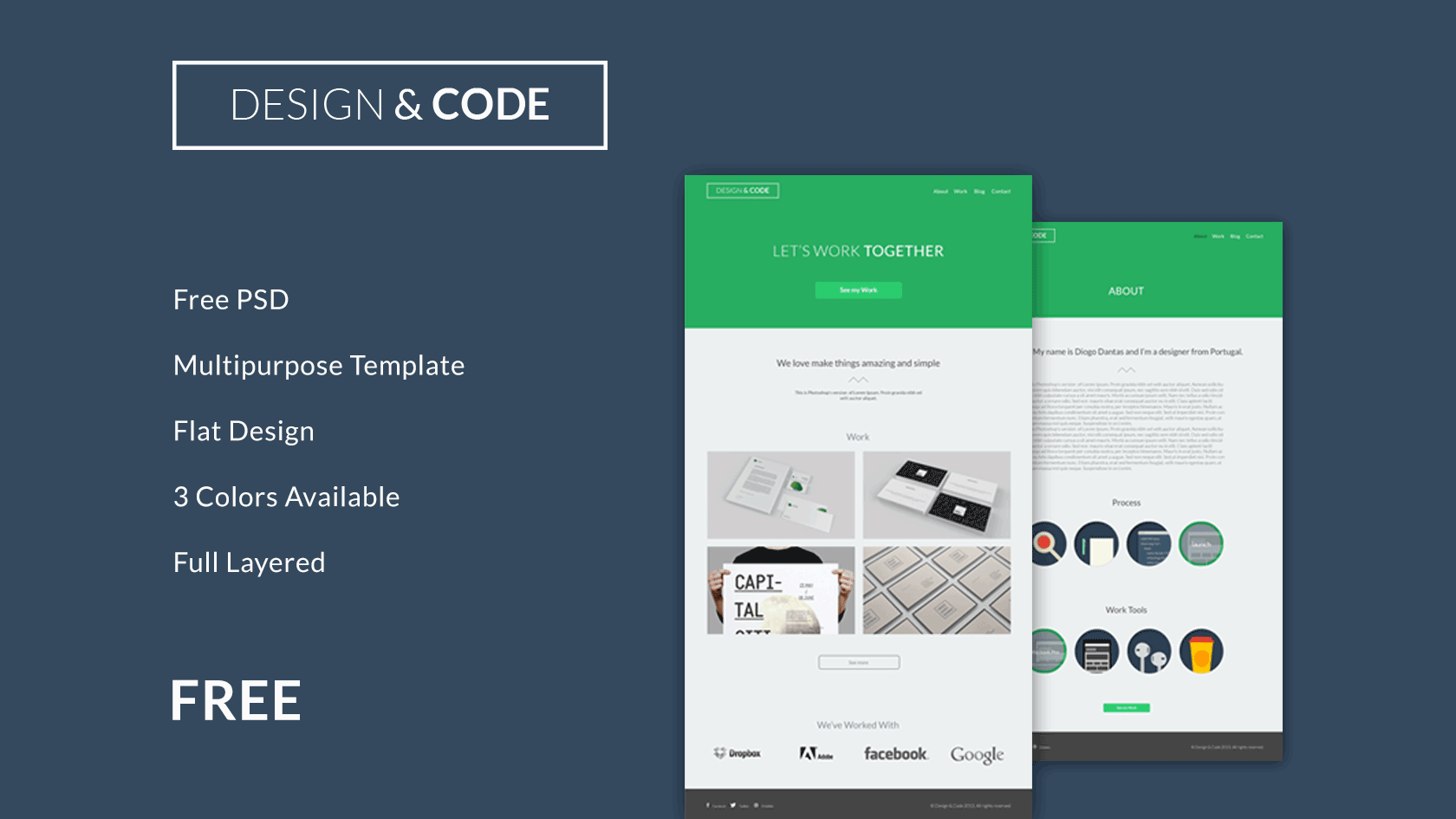 full layered psd theme template