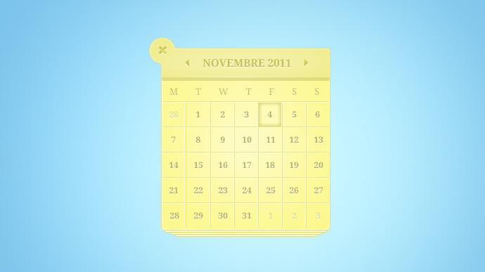 Beautiful Calendar Free PSD