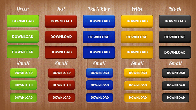 Blue Green Yellow Black Red download buttons psd