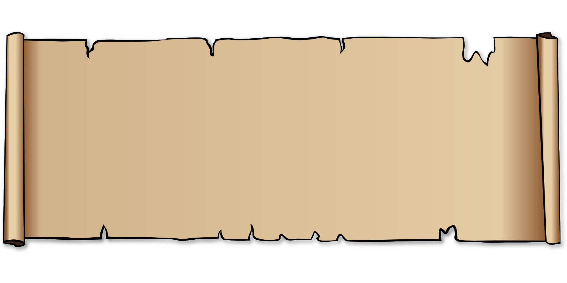 Broken scroll paper,parchment ,leather vector