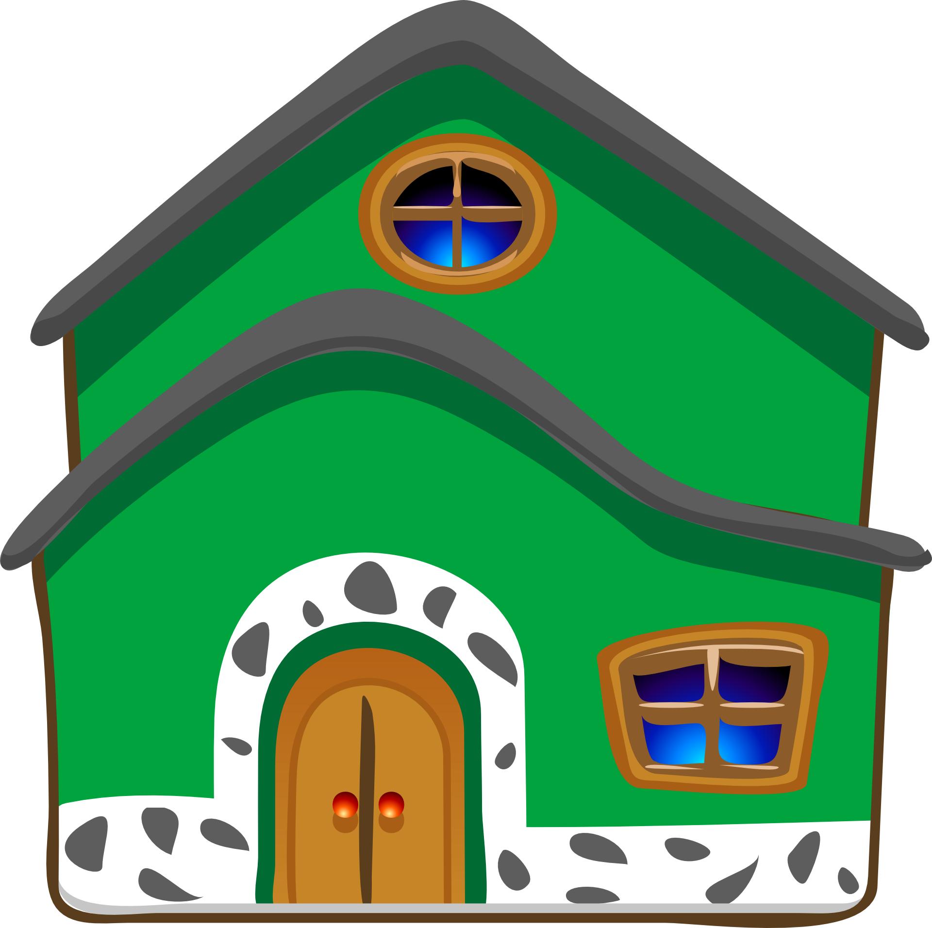 Cartoon green house vector