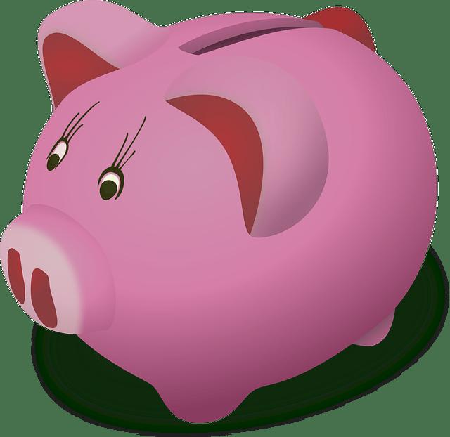 Cartoon money pot - piggy bank vector