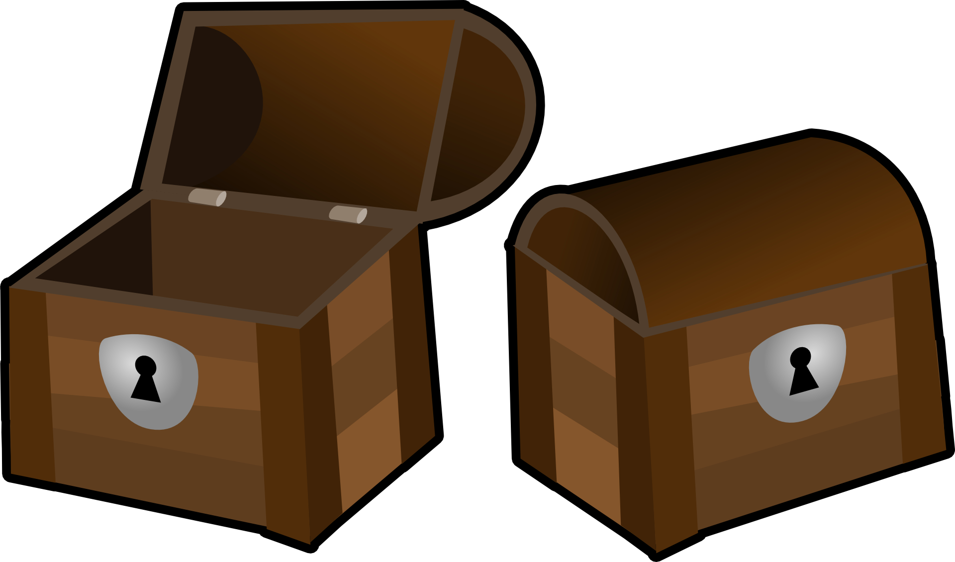 Cartoon brown open box vector