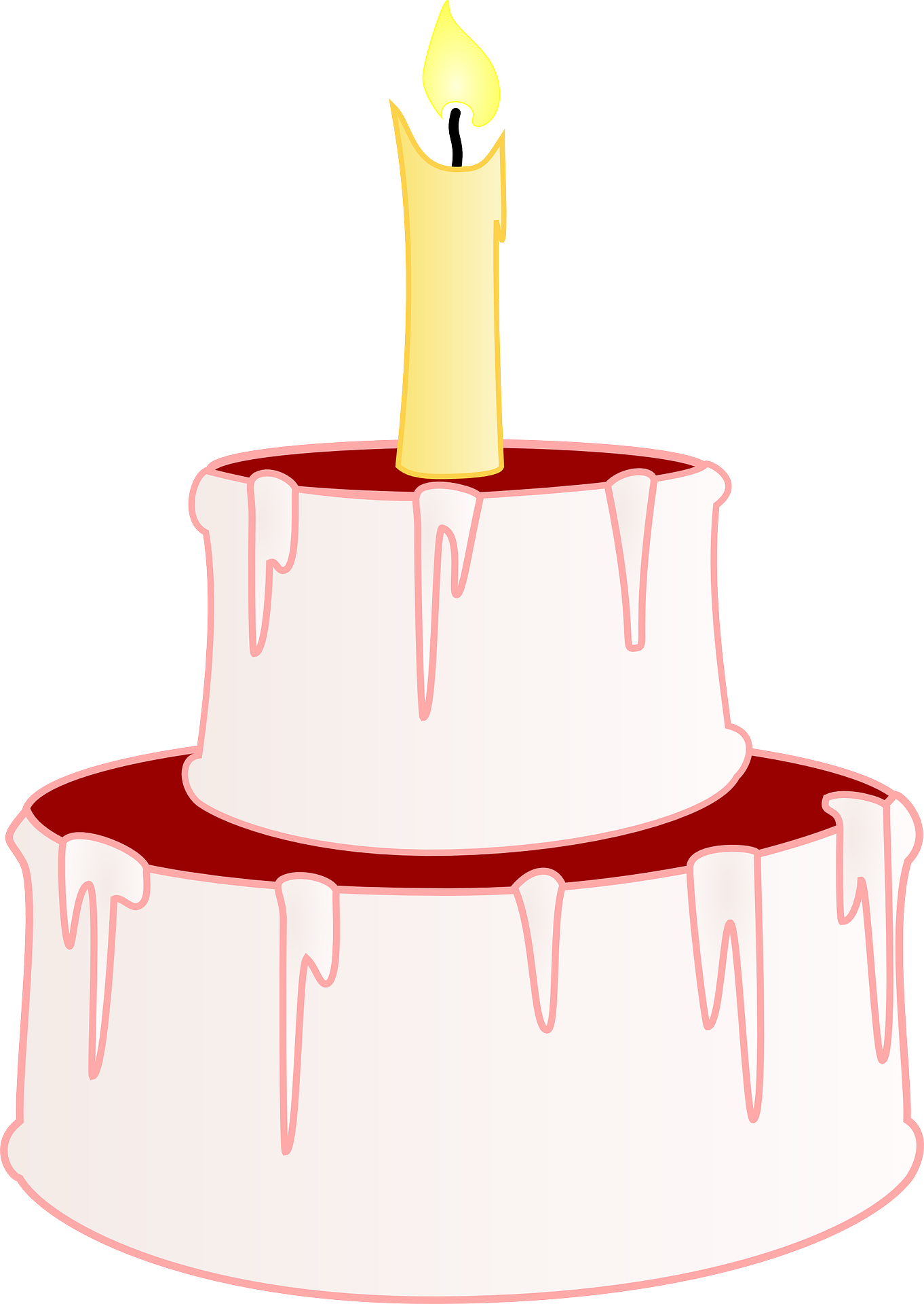 Cartoon picture,Birthday celebration,candle,cake vector