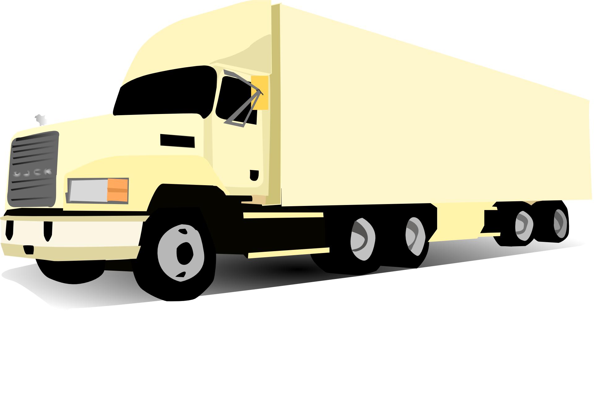 Cartoon vehicle, truck lorry vector