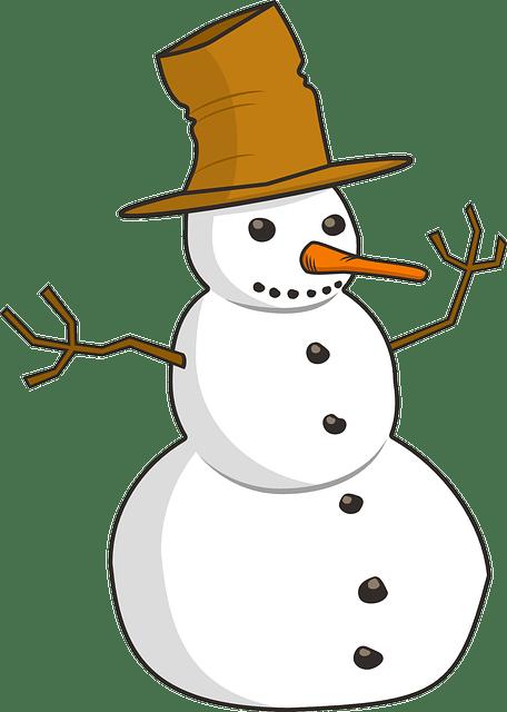 Cute snowman free vector