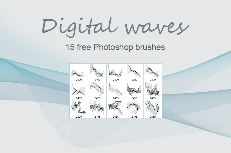 Digital waves- PS brush Download