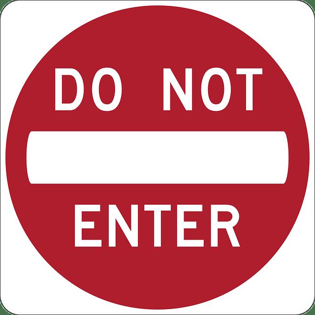 Do Not Enter signs free vector