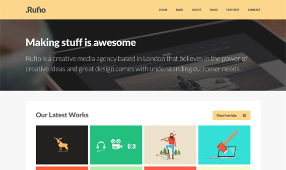 Free Responsive HTML5 PSD Template
