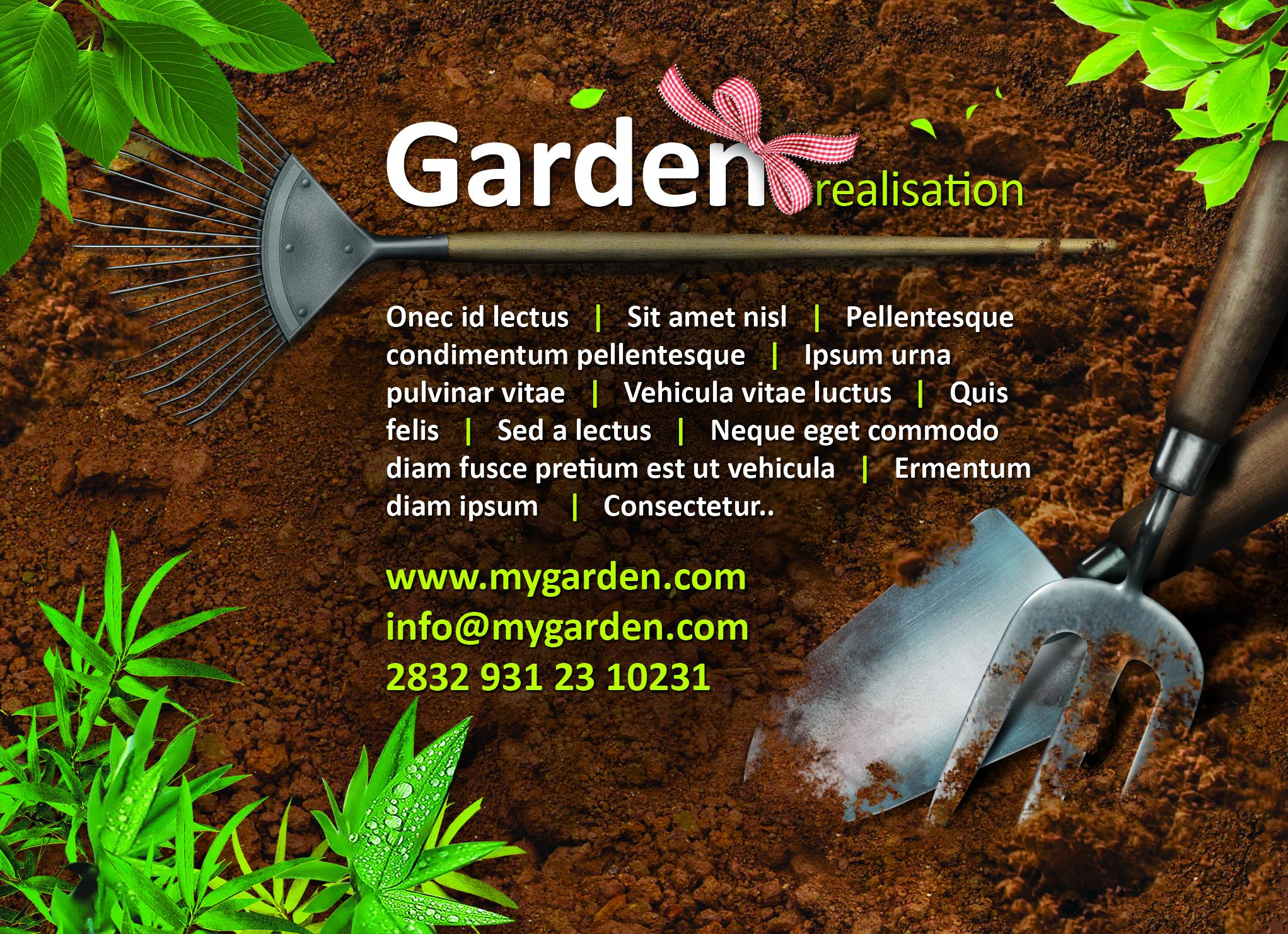 Garden Flyer Free PSD