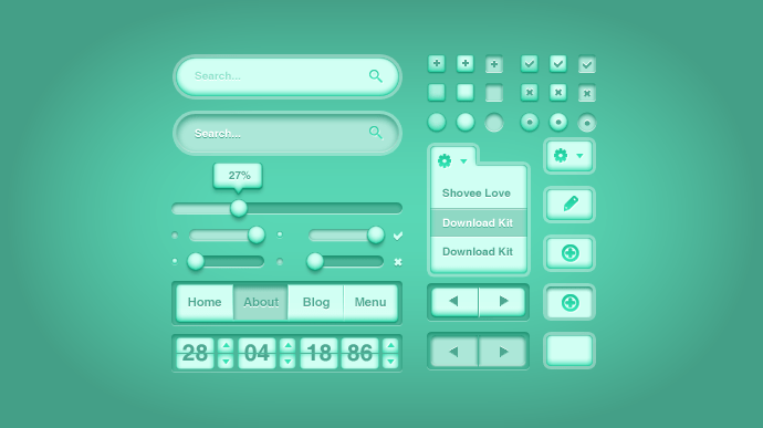 Green Health UI Kit Free PSD
