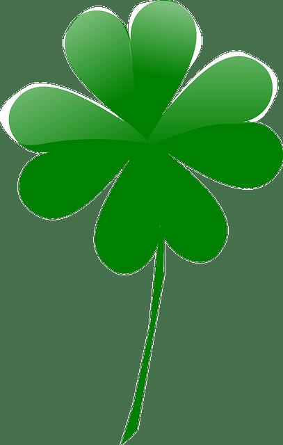 Green shamrock vector