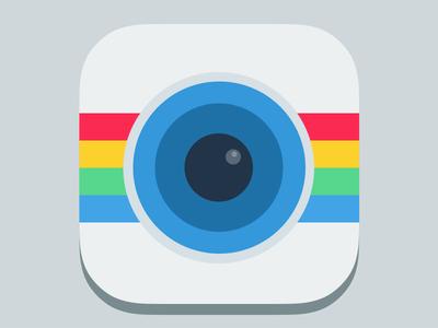 Instagram Flat Icon Free PSD