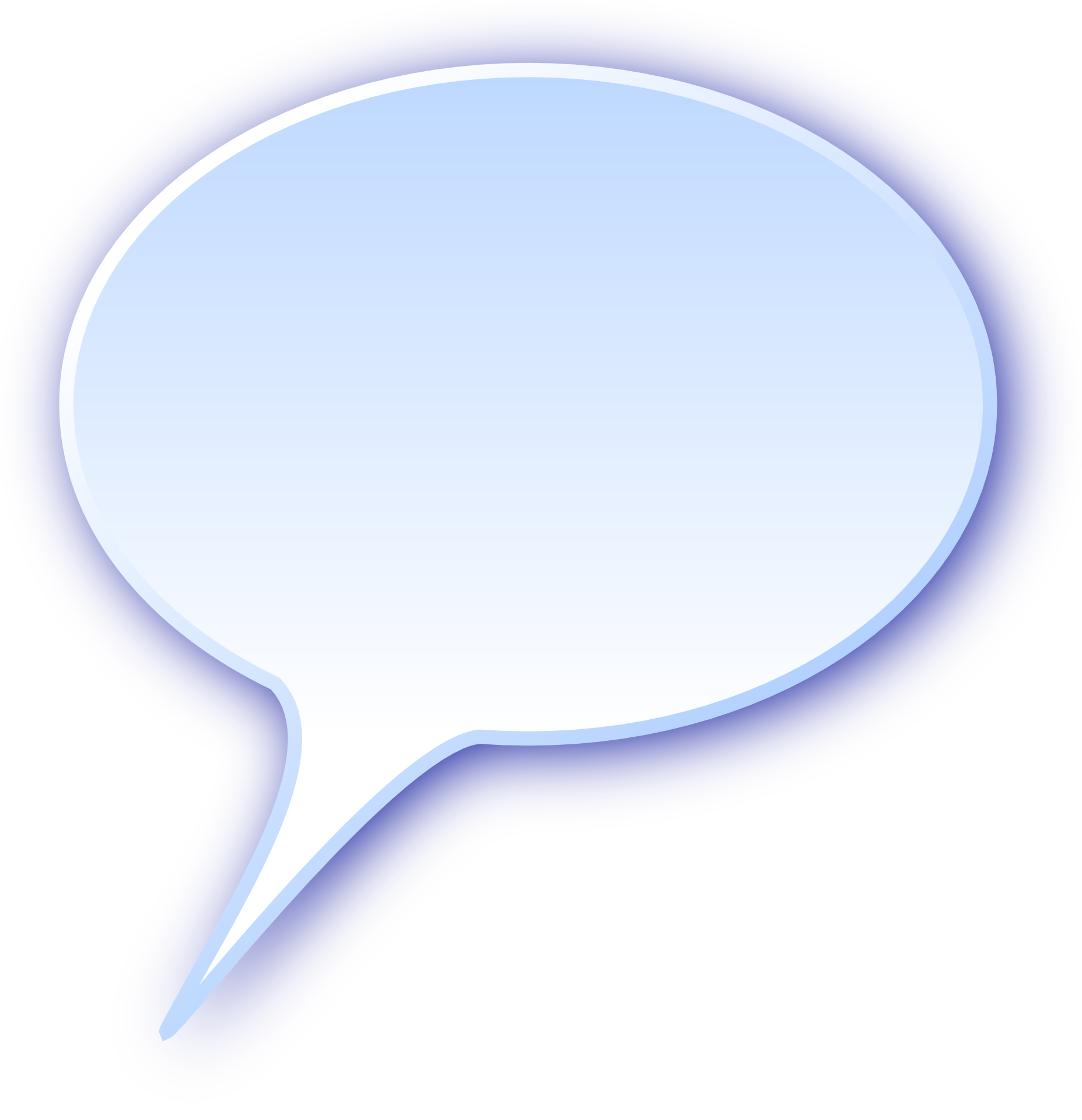 Light-blue chat bubbles vector