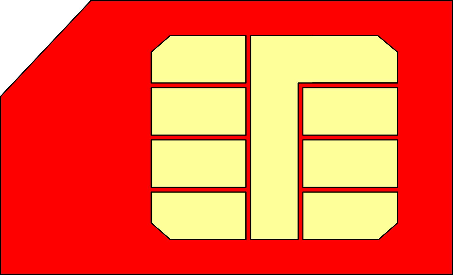 Mobile phone Sim card vector