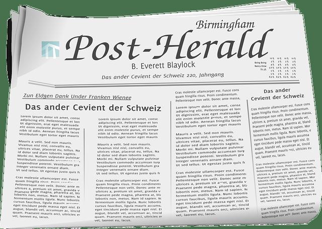 Newspaper free vector