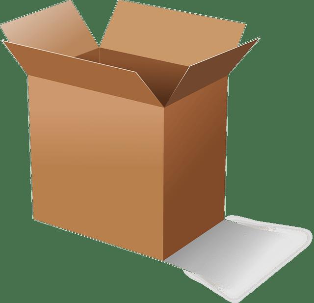 Opened brown cardboard box vector
