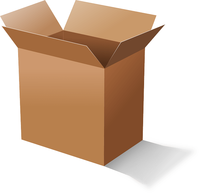 Opened brown cardboard box vector