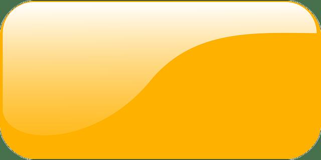 Orange Glass glossy rectangular icon vector