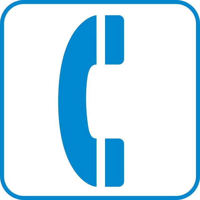 Phone sign free vector