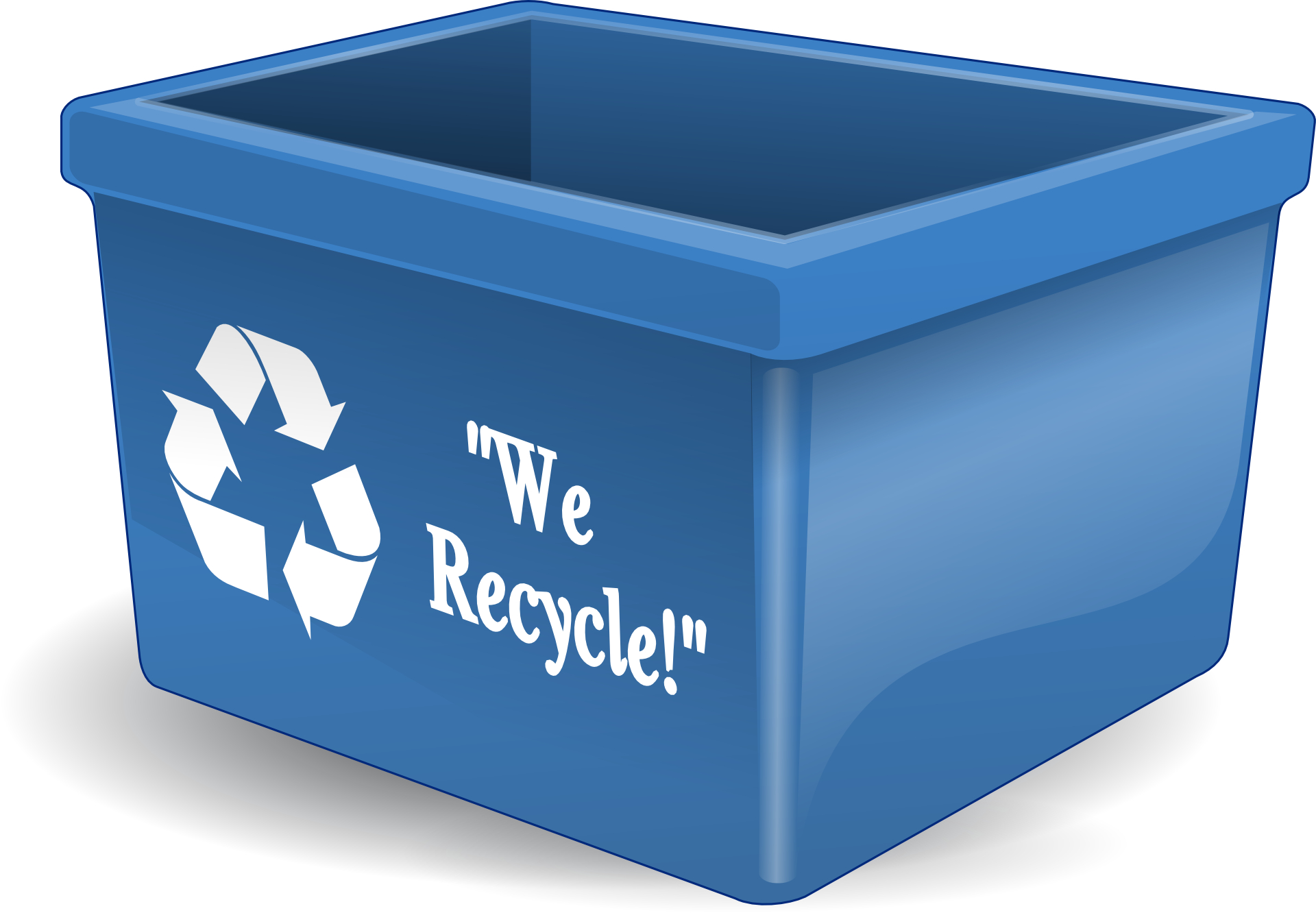 Recycle,box,blue recycling bins vector