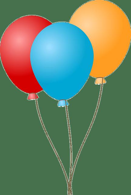 Red Blue Yellow Balloon Vector