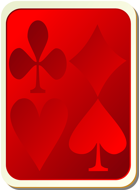Red playing card game vector