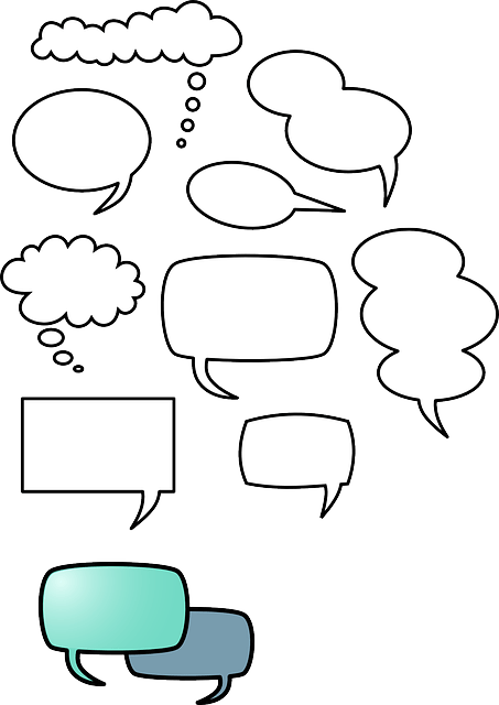 Simple speech bubbles free vector