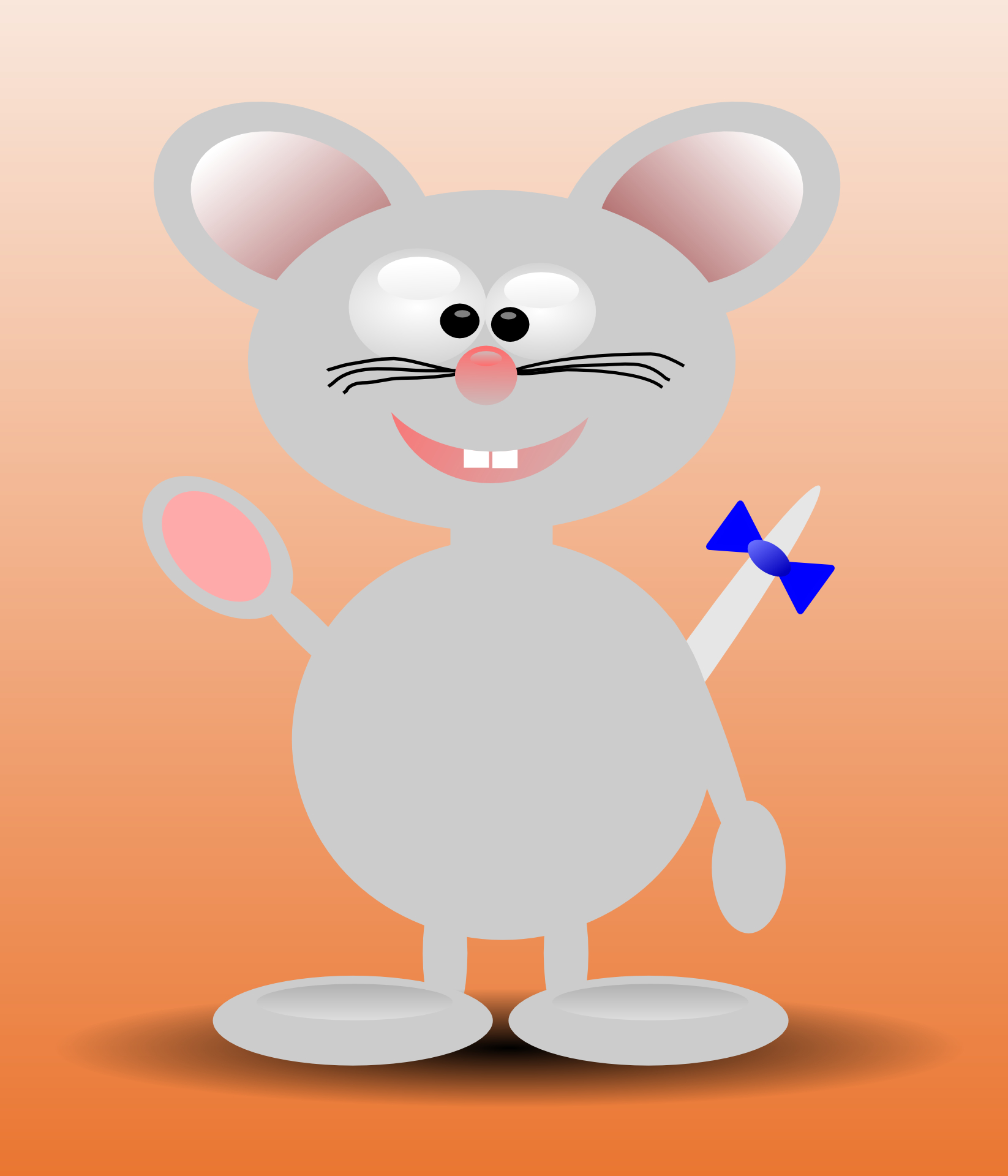 Smiley mouse,cartoon animal vector
