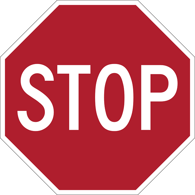 Stop sign free vector