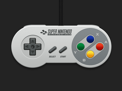 Videogame Gamepad -SNES Controller Free PSD