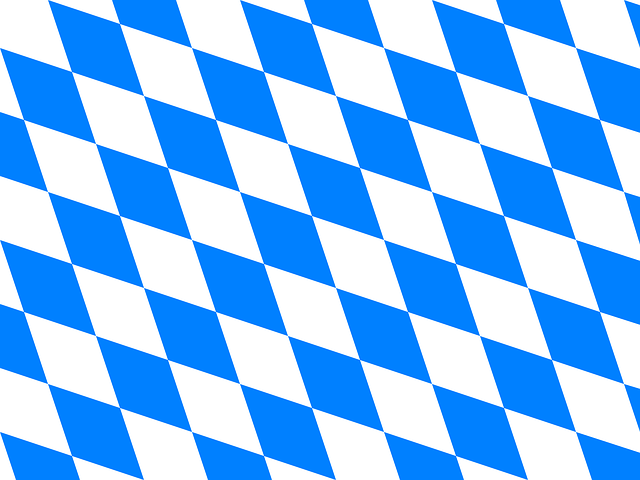 White & Blue Rhombus Vector