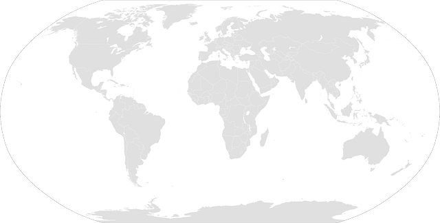 World land and ocean map vector